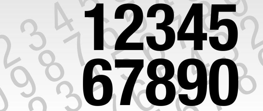 Zahlenaufkleber und Klebezahlen mit großer Auswahl an Schriftarten ...
