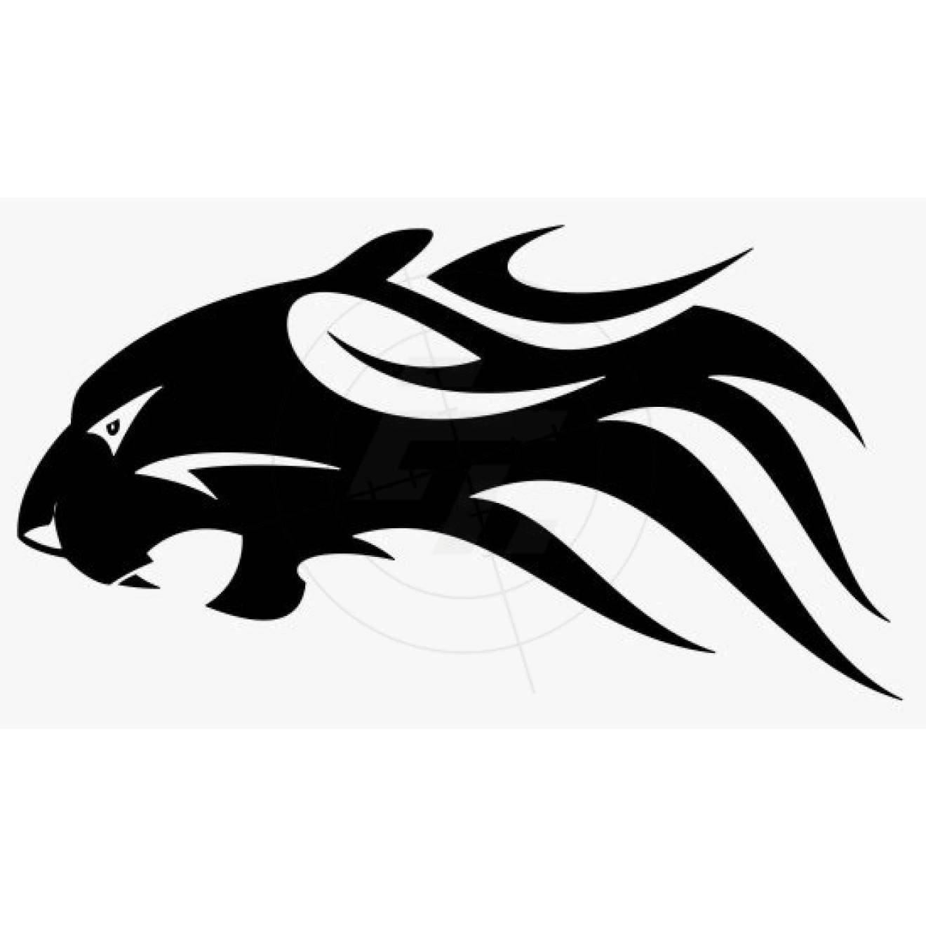 Flammenaufkleber Panther