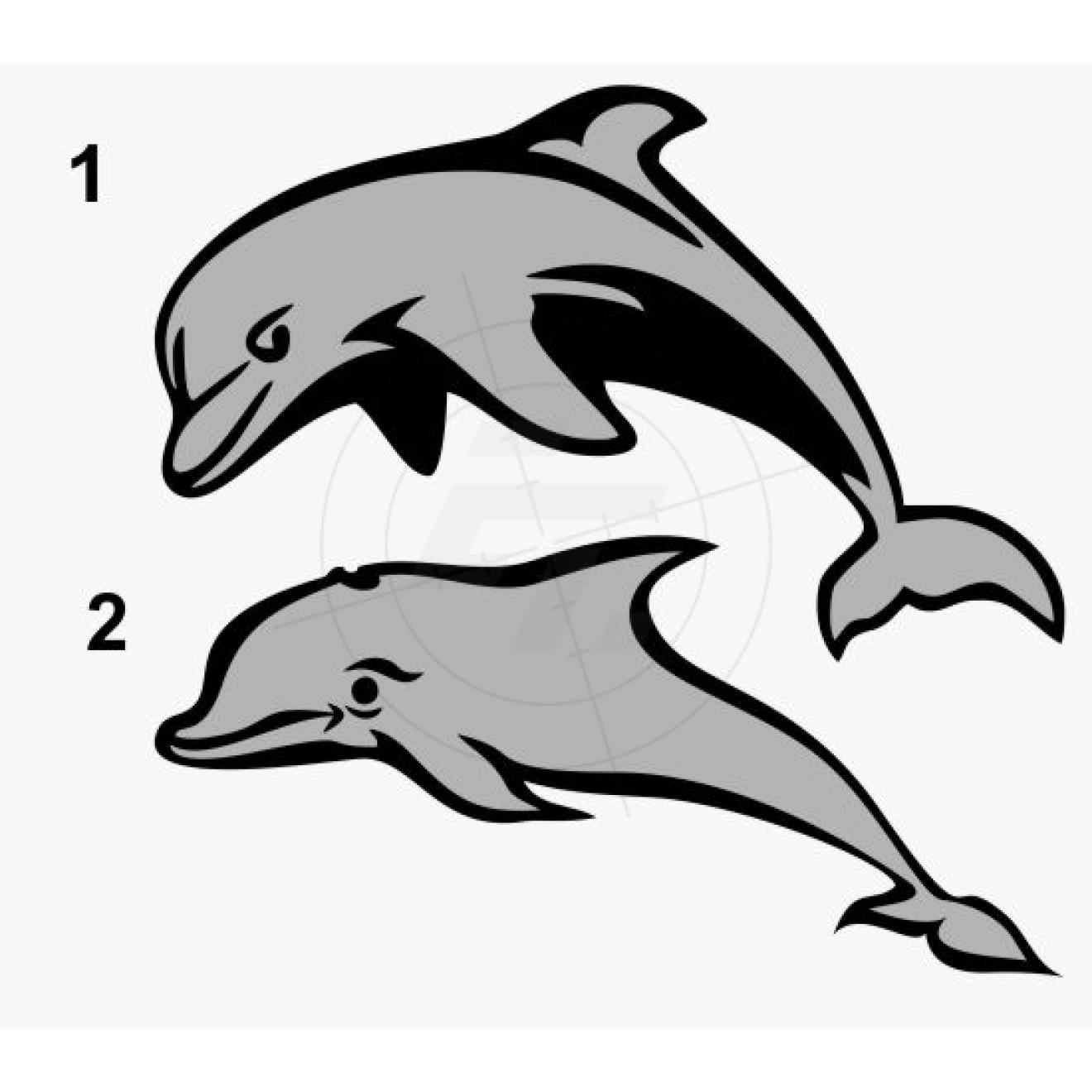delphine zweifarbig aufkleber für auto boot und caravan