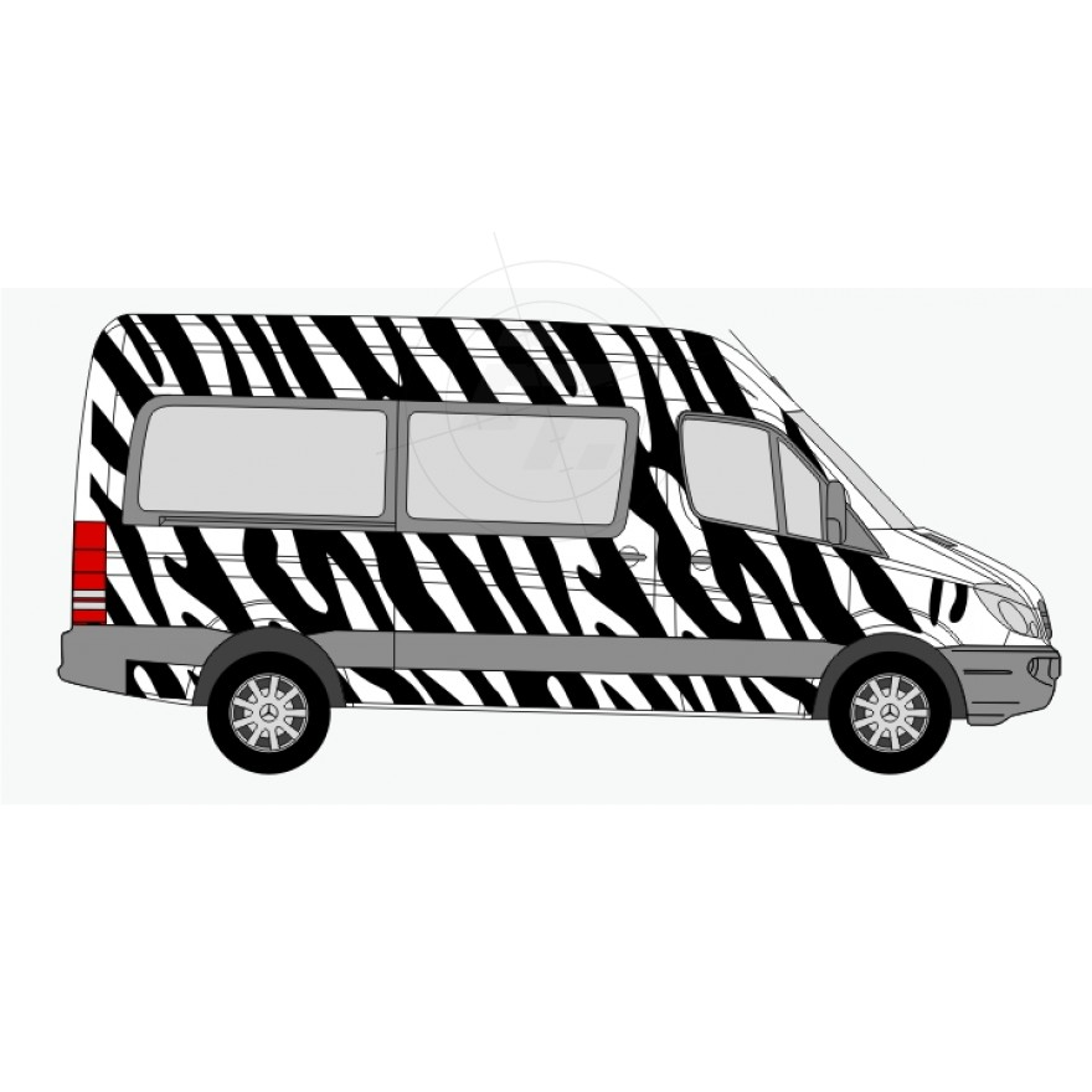 zebrafell aufkleber f r auto pkw kfz transporter caravan. Black Bedroom Furniture Sets. Home Design Ideas
