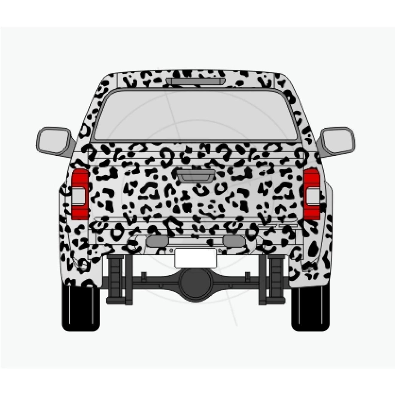 leopardenfell aufkleber f r auto pkw kfz transporter caravan. Black Bedroom Furniture Sets. Home Design Ideas