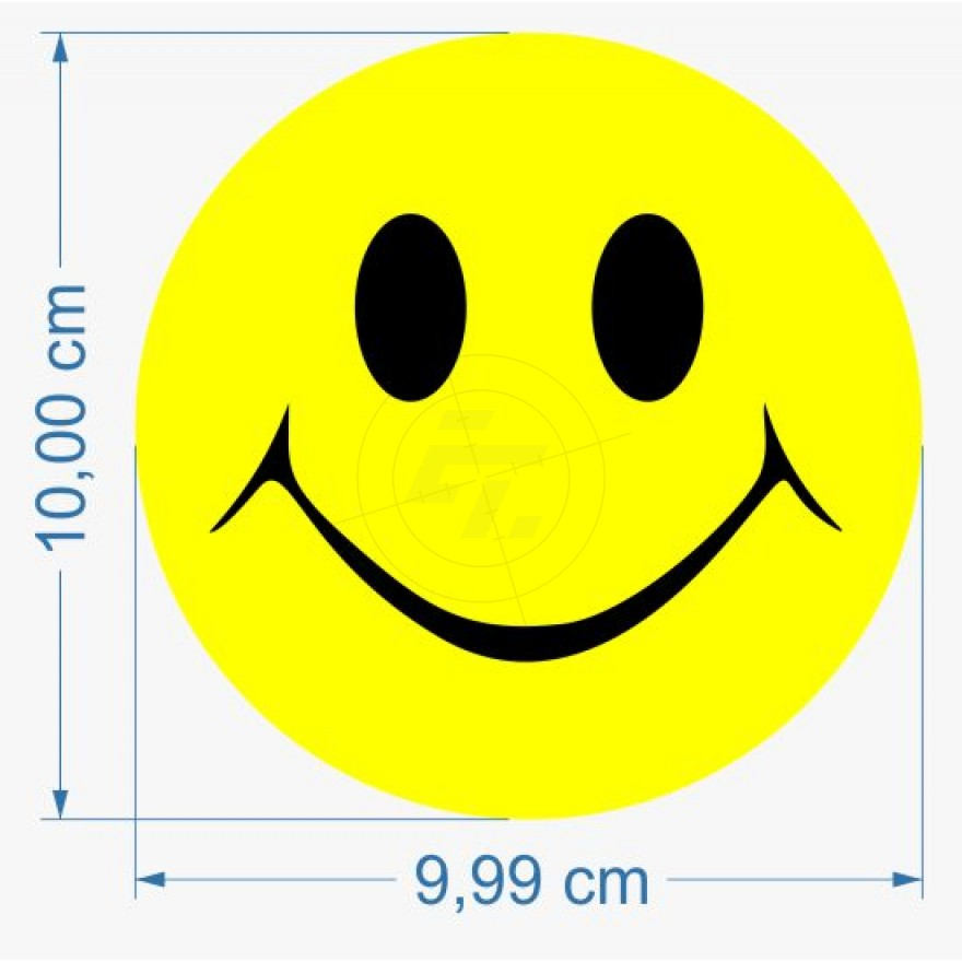 Smiley Two Color Sticker