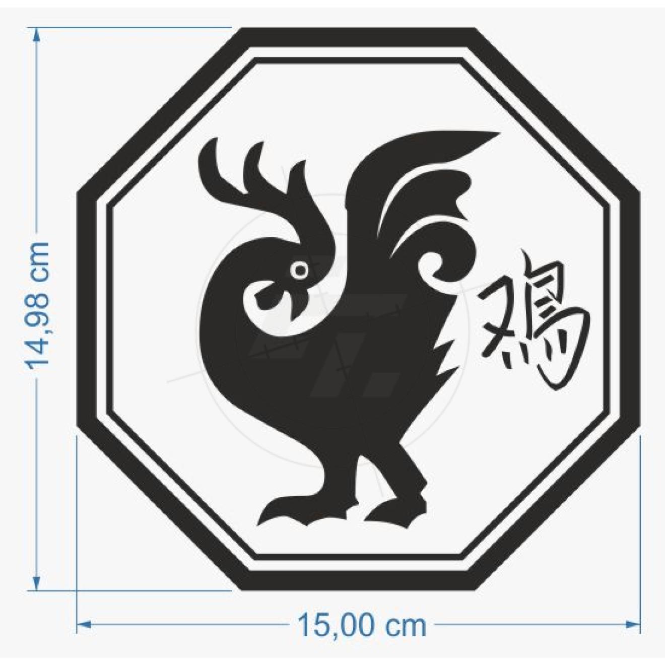 huhn hahn chinesisches horoskop tierkreiszeichen mit tiersymbol