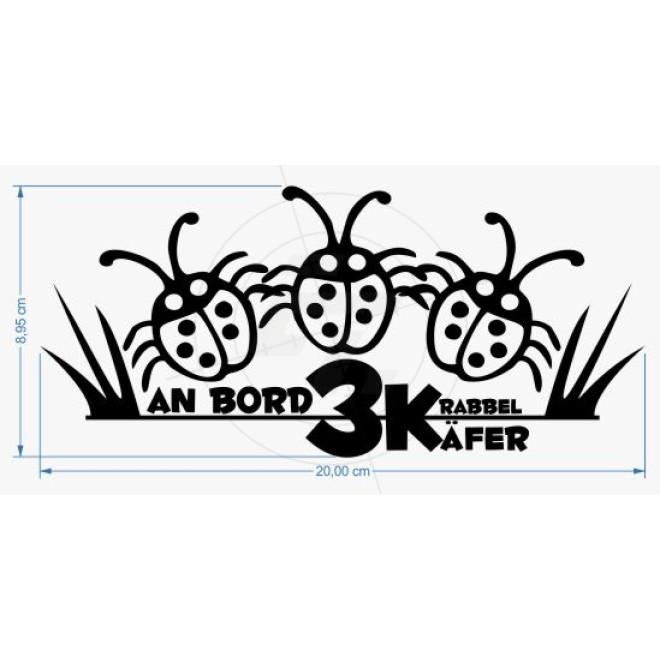 3 small beetle on board, Aufkleber, Sticker und Folien für Auto ...
