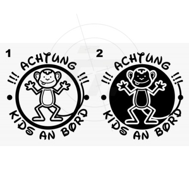Baby, kids sticker, small monkey, Aufkleber, Sticker und Folien für ...
