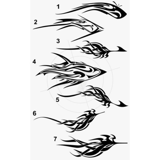 Bootsaufkleber fabelwesen tiefseeorganismen for Bootsaufkleber design