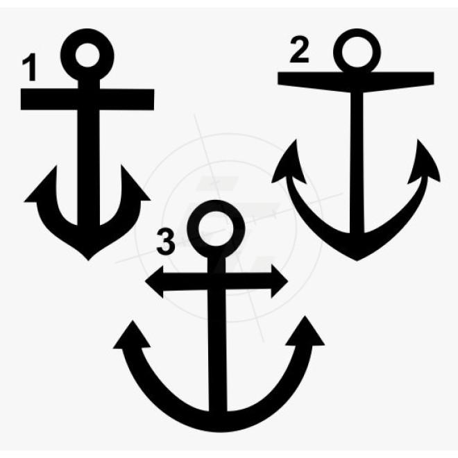 Bootsaufkleber anker lieferbar in drei varianten for Bootsaufkleber design