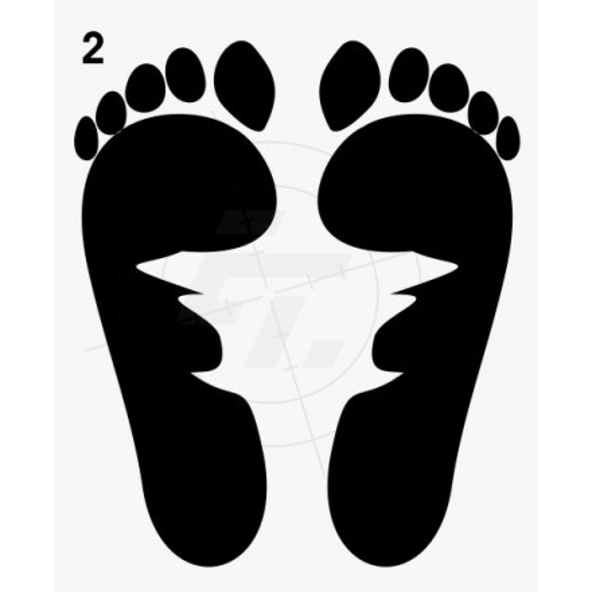 Fußspur Fußabdruck Nackte Füße 2er Set