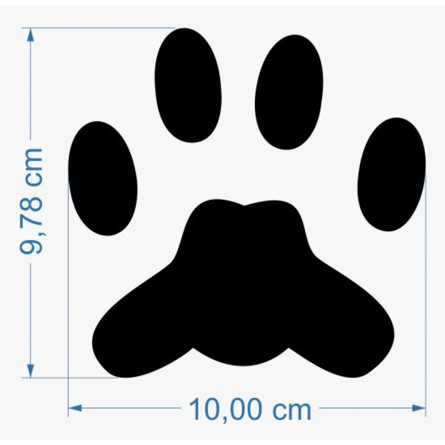 Fun Sticker Dog Track Paw Print