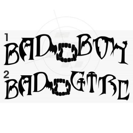 "Aufkleber ""Bad Boy-Bad Girl"""