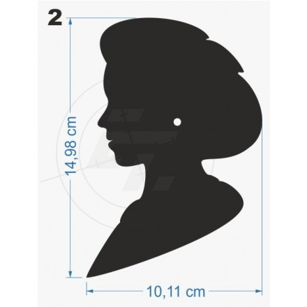 Wc Sticker Man Woman Silhouette Of Head