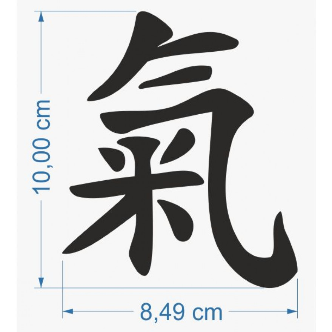 Life Energy Feng Shiu Chinese Character Car Sticker