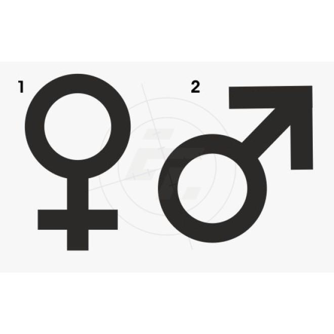 Symbol Sticker Venus Und Mars