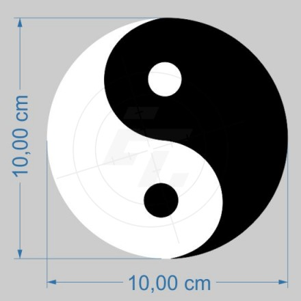 yin yang two color stickers for car boat and caravan