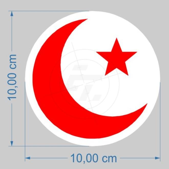 Halbmond Mit Stern Islamisches Symbol