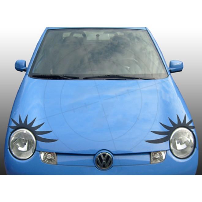 auto aufkleber autowimpern mit 8 wimpern. Black Bedroom Furniture Sets. Home Design Ideas