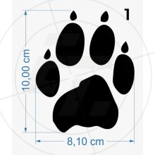 Wolfskin, Paw print with claws