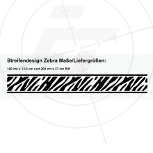 Streifendesign Zebra, 2er-Set
