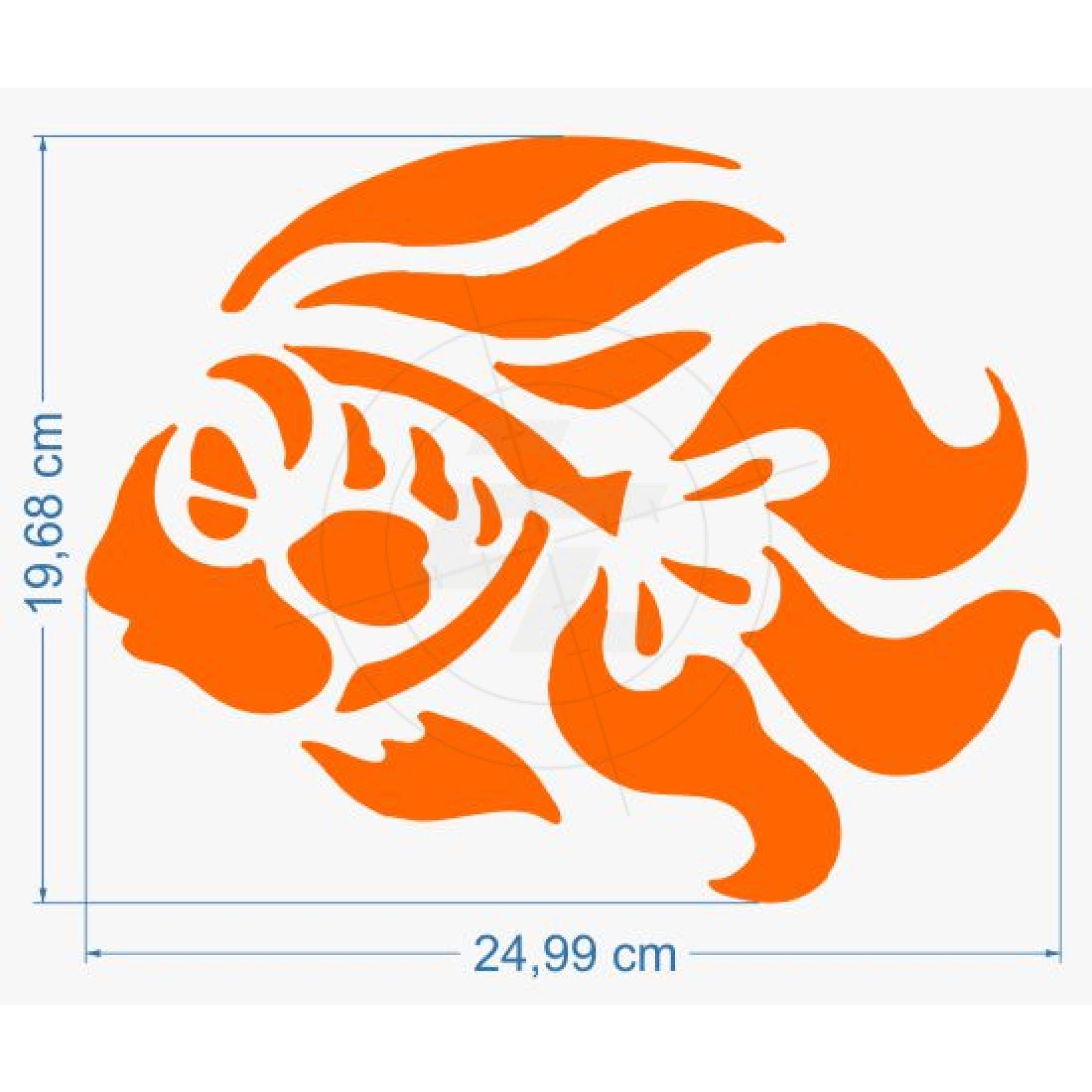 Goldfisch mit Schleierflossen Aufkleber für Auto, Boot und