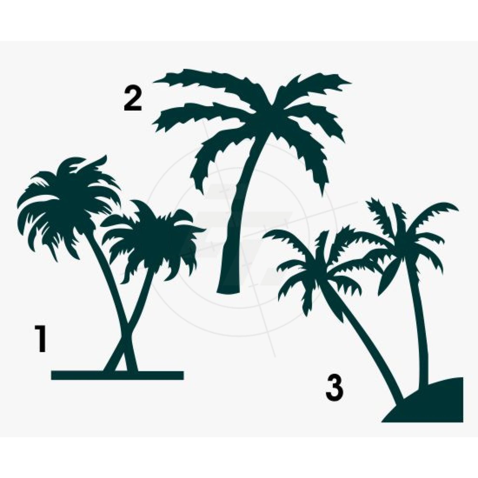 aufkleber palmen einzelne palme mehrere palmen. Black Bedroom Furniture Sets. Home Design Ideas